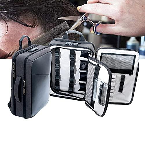 Bolsa de transporte de peluquería de gran capacidad, bolsa de herramientas de peluquería para salón, estuche de almacenamiento de viaje para herramientas de salón, kit de herramientas de peluquería