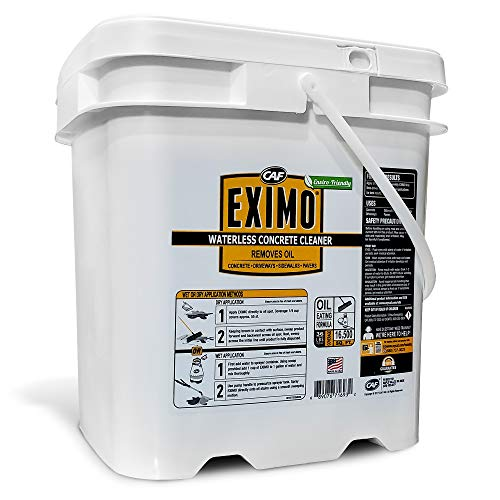 EXIMO Waterless Concrete Cleaner for Driveway, Garage, Basement, and Walkway Surfaces, 3 lbs, Advanced Stain Remover for Oils and Other Petroleum Stains