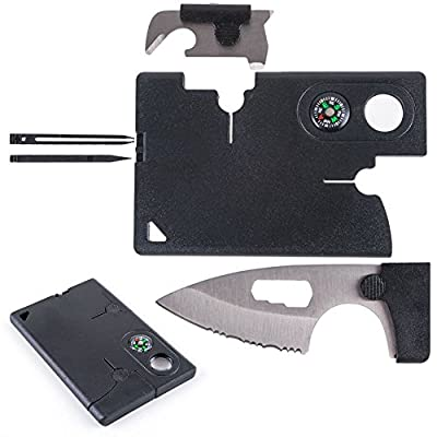 SALE! Credit Card Survival Tool, Survival Wallet Tool, Tactical Pocket Knife With 10 Unique Tools Including Compass, Knife, & MORE | Pocket Survival Multi Tool | Best 10 in 1 Pocket Knife Survival by Trader Techniques, LLC