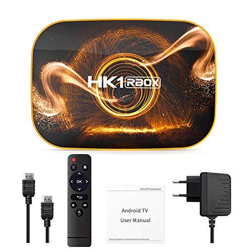 jiheousty Y roid 10.0 TV Box HK1 RBOX 4GB 64GB Smart TV Box Quad-Core RK3318 Decodificador