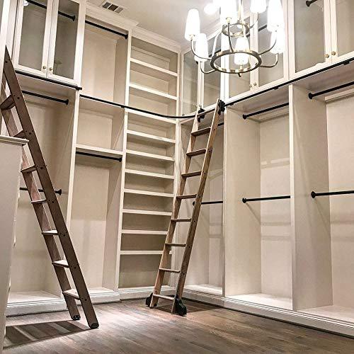 Escalera de granero deslizante de tubo redondo negro rústico de 3,3 pies 6,6 pies 9,9 pies 13,2 pies hardware de biblioteca: Amazon.es: Bricolaje y herramientas