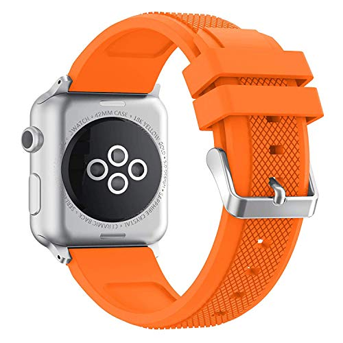 Cobar Correa de Silicona para Apple Watch (42 mm x 44 mm, Silicona Suave, Delgada, Delgada, Delgada, pequeña, para iWatch Series 5,Series 4, Series 3, Series 2, Series 1 Nike+, Sport, Edition