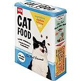 Nostalgic-Art Retro Vorratsdose XL Geschenk-Idee für Katzen-Besitzer, Aufbewahrungsbox für Trockenfutter, Cat Food - Vegetables, Chicken,...