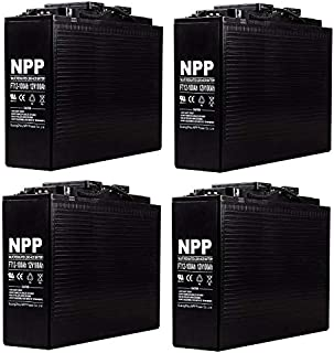 NPP FT12-100Ah Front Access Telecom AGM Deep Cycle AGM 12V 100Ah Battery with Button Style Terminals (4 Pack)
