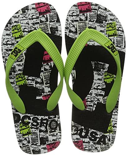 DC Shoes Spray Graffik-Sandalen für Jungen Flip-Flop, Bki, 33 EU