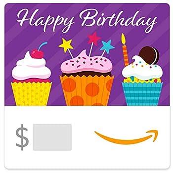 Amazon eGift Card - Birthday Cupcakes