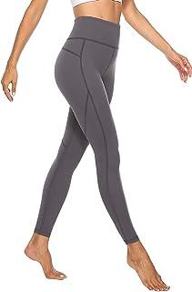 JOYSPELS Figurformende Damen Sporthose mit Pfirsich Design, Blickdichte Sport Leggings - Lange Sportleggins Yogahosen mit Taschen