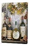 LEotiE SINCE 2004 Nostalgic Cartel De Chapa Alcohol Decoración Retro Uvas Botella de Vino Letrero De Metal 20X30 cm
