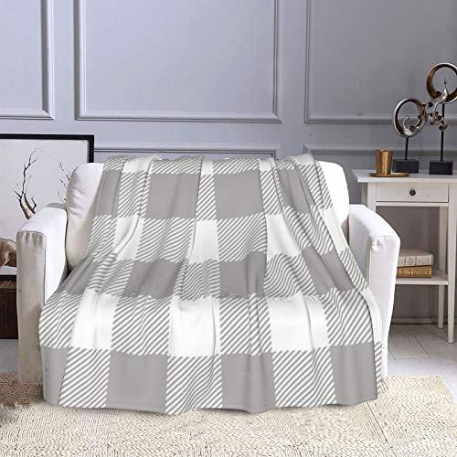 KCOUU Couverture polaire 127 x 152 cm Rblack - Plaid gris sur Charcola - Couverture décorative douce et chaude - Pour canapé, lit, voyage, maison, bureau - Toutes saisons