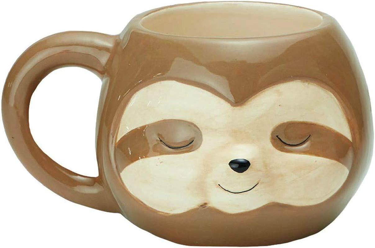 Streamline Sloth Ceramic Coffee Mug