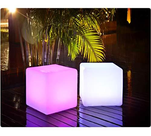 PRECORN LED Cubo Incl. USB Cubito Iluminado Luz para la decoración de jardín o la habitación