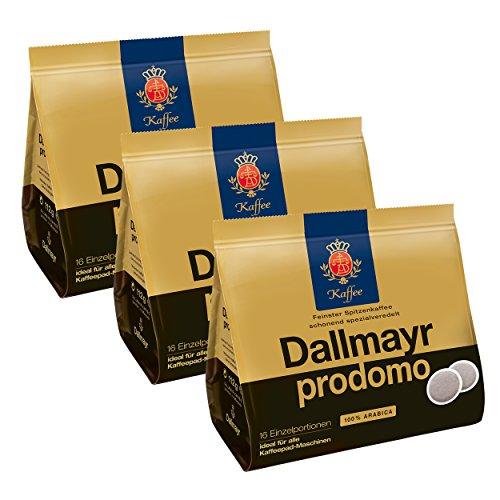 Dallmayr Prodomo Kaffeepads, für alle Pad Maschinen, Röstkaffee, Spezialveredelt, 48 Pads, á 7 g