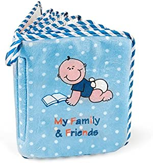 Baby Boy's First Photo Album of Family & Friends - Holds 15 Photos!