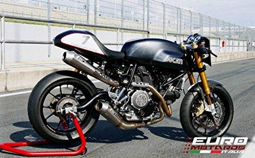 Ducati Paul Smart Sport Classic 1000 Zard Impianto Scarico Completo Full Titanio Omol. +4CV System Exhaust