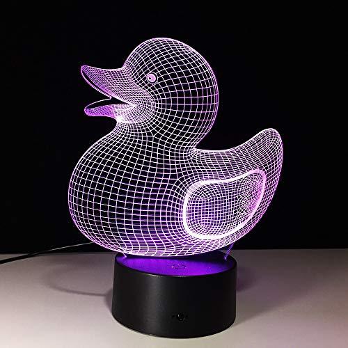 Novità Creativo Apparecchio per bambini Simpatico animale Anatra Forma Lampada da notte 3D Lampada da tavolo a LED Regalo di compleanno per bambini Decorazione da comodino