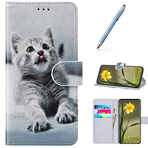 Pelle Portafoglio Cover per Xiaomi Mi 6X Custodia Flip Libretto Animale Case Gatti,URFEDA PU Cuoio...