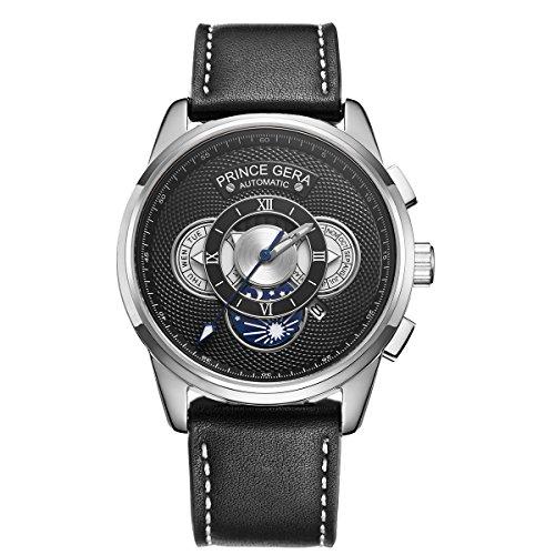 PRINCE GERA Men's Automatic Wrist Watch Roman...