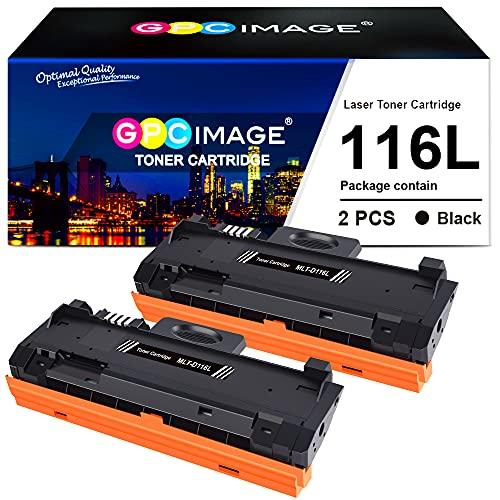 GPC Image Kompatible Tonerkartusche als Ersatz für Samsung MLT-D116L für Xpress SL M2885FW M2825ND M2675FN M2625D M2875FD M2835DW M2875FW M2825DW M2825DW M2825 M2885 M2875(Schwarz, 2er-Pack)