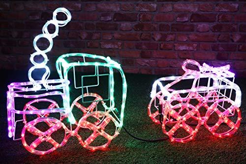 Christmas Concepts® 100cm Multi Farbige 3D LED Statische Seil Licht Zug & Wagen - Indoor/Outdoor Weihnachtsdekoration