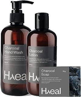 HAEAL Charcoal Range Combo Pack (Handwash, Lotion & Soap)