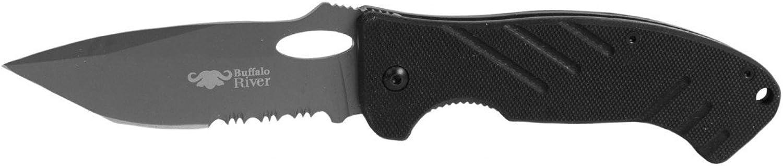Buffalo River BRKM503 Maxim Half Serrated Knife, 4.5