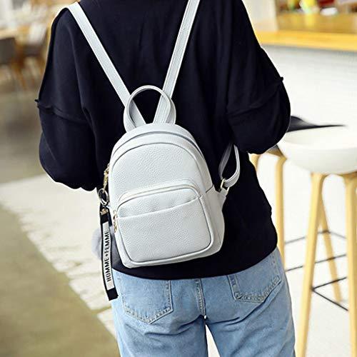 Karrychen Women PU Leather Backpacks Mini Cute Travel Rucksack Ball Pendant Shoulder Handbags School Bag