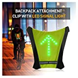 FANCYWING LED Turn Signal Bike Pack Accessory/LED Backpack Widget with Direction Indicator...