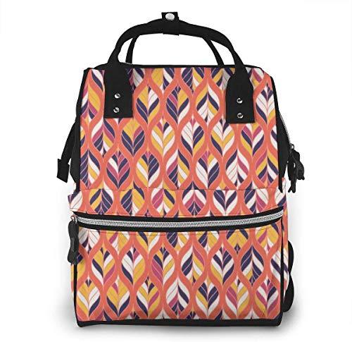 JUKIL Mochila de pañales Rustic Wooden Lights Diaper Backpack Fashion Waterproof Multi-Function Travel Backpack