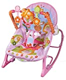 THE LITTLE LOOKERS Infant to Toddler Baby Musical Rocker for Baby Boys/Girls/Toddlers/Infants(Pink)