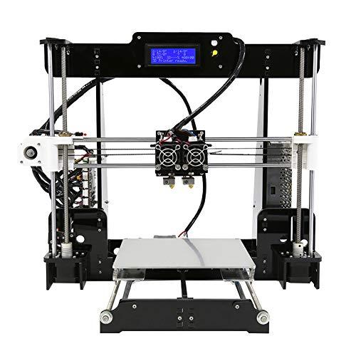 Stampante 3D Doppio Estrusore Grande Formato Di Stampa 220 * 220 * 240 Mm Kit Riscaldato Per Stampante 3D Con Letto Riscaldato Con Struttura In Metallo