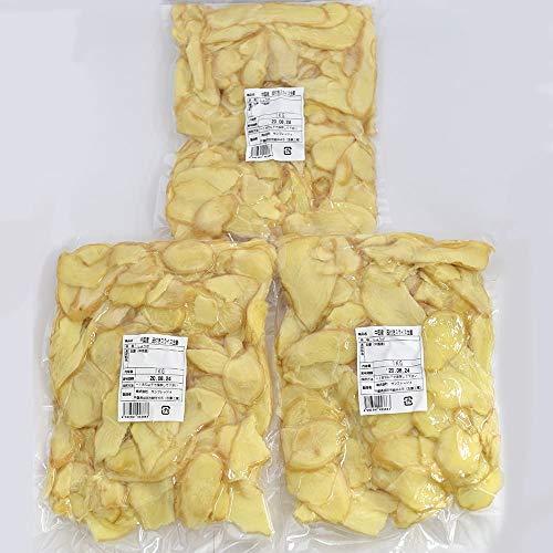 【冷凍】皮付きスライス生姜 1kg×3パック 中国産