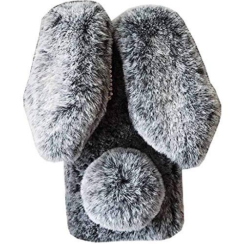 Funda para Fujitsu Flechas RX/M05, hecha a mano, esponjosa de lana de conejo Villi, linda cola de bola para invierno, cubierta suave y cálida, para Fujitsu DGray