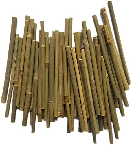 Craft Bamboo Sticks 5 Inch Long 0.1-0.2 Inch in Diameter for DIY Crafts Photo Props Craft Supplies for Crafts (100Pcs/Bag)