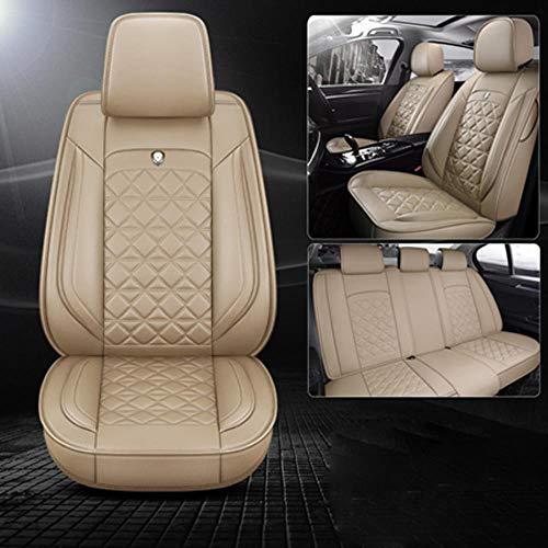LUOLONG autostoelhoezen, (voor + achter) speciale stoelhoezen Volvo V50 V40 c30 XC90 XC60 s80 s60 s40 v70 accessoirehoezen voor auto beige standaard