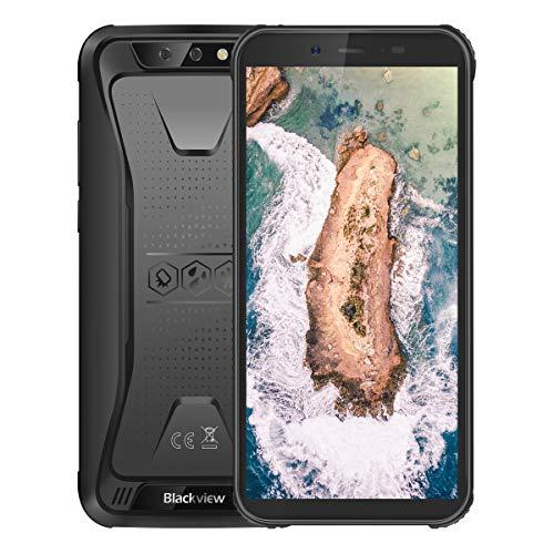 Móvil Resistente (2020), Backview BV5500 Telefono Móvil,Android 8.1, IP68 a Prueba de Golpes e Impermeable, Pantalla de 5.5 Pulgadas, Tarjeta SIM Dual de 2GB+16GB, GPS,Batería de 4400 mAh