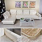 Asdflina Kissen Baumwolle Gesteppte gestickter Sofakissen Couch Slipcovers Rückenlehne Handtuch Möbel Sitzkissen (Farbe : Beige, Größe : 90x120cm)
