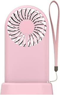 LARNOR Portable Handheld Cooling Fan Colorful LED Handheld USB Rechargeable Electric 9035190 mm. Pink, 9035190 mm