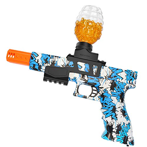Anstoy Electric with Gel Ball Blaster AEG for Outdoor Activities-Fighting Shooting Team Game (Graffiti Blue)