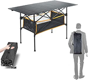 Czqlcyl Outdoor Folding Table - Camping Aluminum Alloy - Picnic Table Waterproof And Durable Folding Table Desk 70 * 50 * 68cm