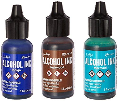 Adirondack Brights Alcohol Ink, 0.5-Ounce, Mariner-Indigo/Mermaid/Teakwood