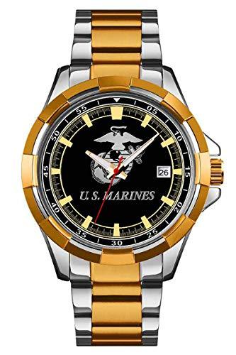U.S. Marine Corps Stainless Steel Mens Watch - 30m Water Resistant