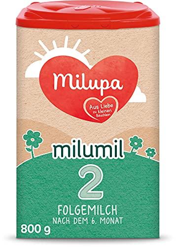 Milupa Milumil 2 Babynahrung, Folgemilch nach dem 6. Monat, Baby-Milchpulver (1 x 800 g)
