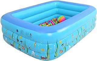 Easy-topbuy Piscinas Inflables Piscina Hinchable de Verano sobre el Suelo para bebé Niños Adulto, 3 Tallas