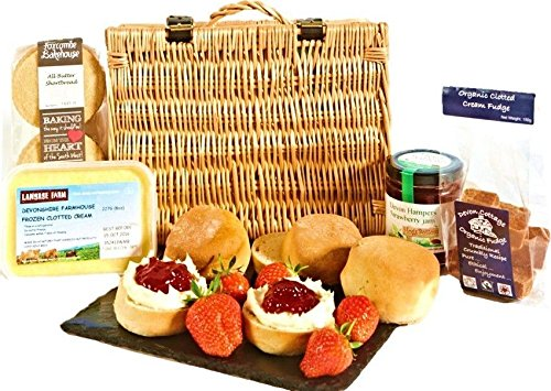 Cream Tea Hamper with Fudge & Shortbread Local Devon Produce