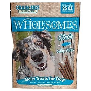 Wholesomes Cleo's Jerky Sticks Grain Free Dog Treats, 25 oz, Blue, 2100106