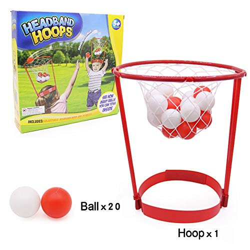 Georgie Porgy Testa Astuccio Canestro Ball Catching Game, Fun Portable Dentro Fuori Giocattolo del Cerchio della Fascia Impostato per Bambini Adulti 20 Palline