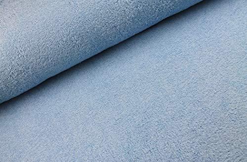 Tejido de rizo por ambos lados a partir de 0,25 m – 150 cm de ancho – 525 g/m de peso, por metro Azul hielo.