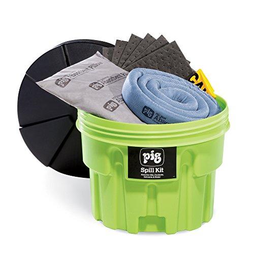 Hi-Vis Spill Kit, Drum, 12 gal.
