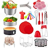 22 Pcs Accessories for Instant Pot 6 8 Qt, YIHONG Pressure Cooker Accessories Set,2 Steamer Baskets,7 Inch...