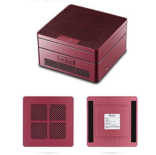Système de nettoyage mini-opération de l'ozone ion électronique USB purificateur d'air intérieur en plus de fumée d'occasion maison de formaldéhyde brume PM 2.5 mini-barre d'oxygène,Red